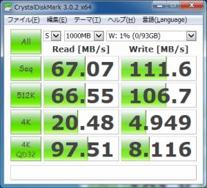 2.5インチexFATフォーマット-USB3.0接続